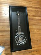 Jack Daniels Electric Guitar In Display Case Man Cave Garage Decor Whiskey