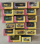 Vtg Lesney Matchbox Models Of Yesteryear Mixed Lot Of 17 Diecast Vehicles Cars