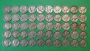 Roll Of 50 Circulated 1944 Mercury Silver Dimes
