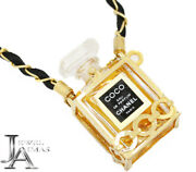 All Product Points Times Coco Mini Bottle Perfume Gold Chain Necklace