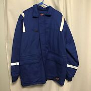 Redwing Ultrasoft Insulated Fire Resistant Jacket Size Large Blue With Hood