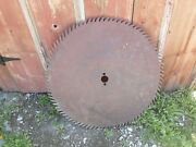 Large Antique Buzz Saw 32 1/2 Inch Saw Mill Blade.