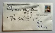 Peter Benchley John Williams Jaws Signed Shark Sketch Music Note 1st Day Cover