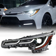 [se/xle/xse] Driver Side Led Projector Headlight Left For 20-21 Toyota Corolla