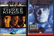 Three Kings Dvd, 2000, S. E. Letterboxed And The General's Daughter Dvd, 1999