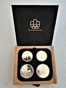 1976 Canada Complete 28 Coin Proof Silver Olympic Set, Encapsulated And Boxed.