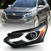 Left Driver Side Led Drl Headlight For 18-21 Chevy Equinox Hid/xenon Non-afs