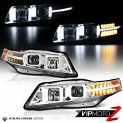Neon Tube Drl Bar Led Signal Lamp Headlight For 04-08 Acura Tl Factory Hid Model