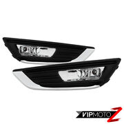 15-18 Ford Focus [factory Style] Fog Driving Light Bumper Lamp Replacement Bezel