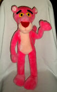 1996 United Artists Picture 22 Plush Pink Panther Lg Bendable Poseable Big Toy