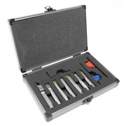 Lathe Tool Bits Set 5/16 Inch Indexable Carbide Tipped Metal Nickel 7 Piece