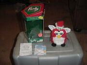 Furby Holiday Santa Christmas With Box 1999 Special Limited Edition Red White