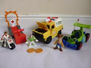 Imaginext Toy Story Bundle Playsets Pizza Planet Rc Carnival + Figures Buzz