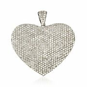 5.00 Ct. T.w. Pave Diamond Heart Pendant In Sterling Silver