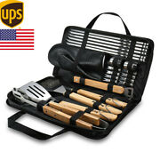 23 Pcs Bbq Tools Grill Accessories Skewers Brush Glove Camping Outdoor Tools Set