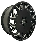 4 Gv06 20 Inch Staggered Black Rims Fits Mercedes Clk W208 2000 - 2002
