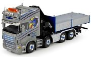 Tek65229 - Truck Scania R6 Topline Carrier Plateau Fitted Of Crane Hiab For C