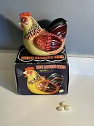 Vintage Me 610 Andldquohen Laying Eggsandrdquo 1960s Giant Tin With Box Battery Working-rare