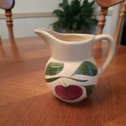 Watts Pottery Vintage Apple Leaf Small Cream Pitcher