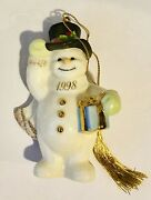 Lenox Snowman Christmas Tree Ornament 1998 Annual Collection New