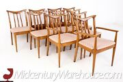 Blowing Rock Mid Century Walnut Dining Chairs - Set Of 8 - Vintage Mcm