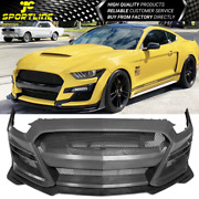 Fits 15-17 Ford Mustang Gt500 Style Front Bumper Cover Replacement Pp