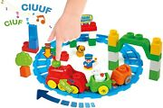 Cle14928 - Toy Of Construction Filled With 30 Parts - Train Sound