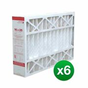 Replacement Pleated Air Filter F/ Honeywell Fc100a1029 Ac 16x25x4 Merv 11 6 Pack