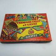 Vintage 1950and039s Treasure Chest Of Games Set Complete Goldex Games [g+] Ludo