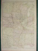 1882 Large Antique Map United States Valley Of Mississippi Western Sheet Iowa
