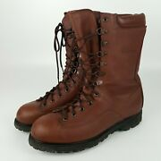 Vintage Cabelas Hunting Boots Brown Leather Insulated Waterproof Boots Usa 11 D