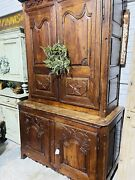 Antique French Provincial Gentlemens Armoire, Wardrobe, Cabinet, Early 1800s