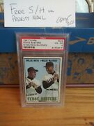 1967 Topps Willie Mays/willie Mccovey 423 Psa 4 Vg-ex Free S/h-make An Offer