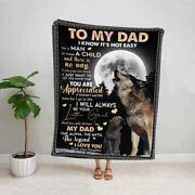 Wolf Daughter To My Dad You Are Appreciated Fathers Day Gift Idea Fleece Blanket