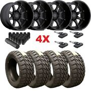 Black Rhino Wheels Rims Tires 35 12.50 22 Black 2500 3500 Ram F-250 F-350 22x14