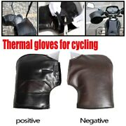 Pu Leather Motorcycle Glove Winter Cold-proof Warm Outdoor Riding Gloves Unisex