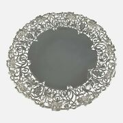 Sterling Silver Hand Pierced Cake Stand Sheffield 1954