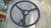 Antique Chris Craft Boat Steering Wheel With Steering Column And Gear 30and039s Era