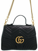 Gg Marmont Small Top Handle Bag 498110 Women And039s 2way