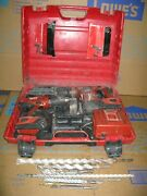 2 Hilti Cordless Te 4-a18 + Sfh 18a Battery Charger Rotary Hammer Drill