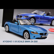 Kyosho 118 Scale Bmw Z4 E85 Convertible Alloy Vehicle Blue Diecast Car Model