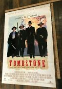 Vintage Poster Tombstone Original One Sheet Kurt Russell D/s Classic Westerns