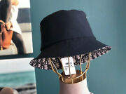 Auth Christian Dior Oblique Reversible Teddy-d Small Brim Bucket Hat Size 57 Nwt