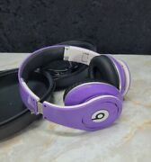 Beats By Dr Dre Headphones Purple For Parts Or Repair Not Working