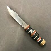 Wwii Fixed Blade Theater Made Trench Art Fighting Knife