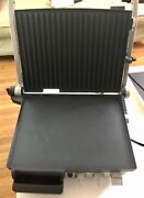 Breville Open Bbq Grill Large 800 Grxl Lightly Used Working Sterling Steel