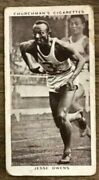 1939 W.a. And A.c. Churchman Kings Of Speed 45 Jesse Owens Rc Wa Ac Tobacco Card
