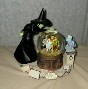 Wizard Of Oz Music Box Waterglobe Wicked Witch San Francisco As Is   Lc