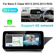 12.3 Android Car Gps Auto Radio Carplay Fit For Benz E Class W212 2010-2013 Rhd