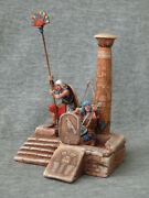The Egyptian Soldiers In The Column. Elite Tin Soldiers Scale 1/32 54 Mm